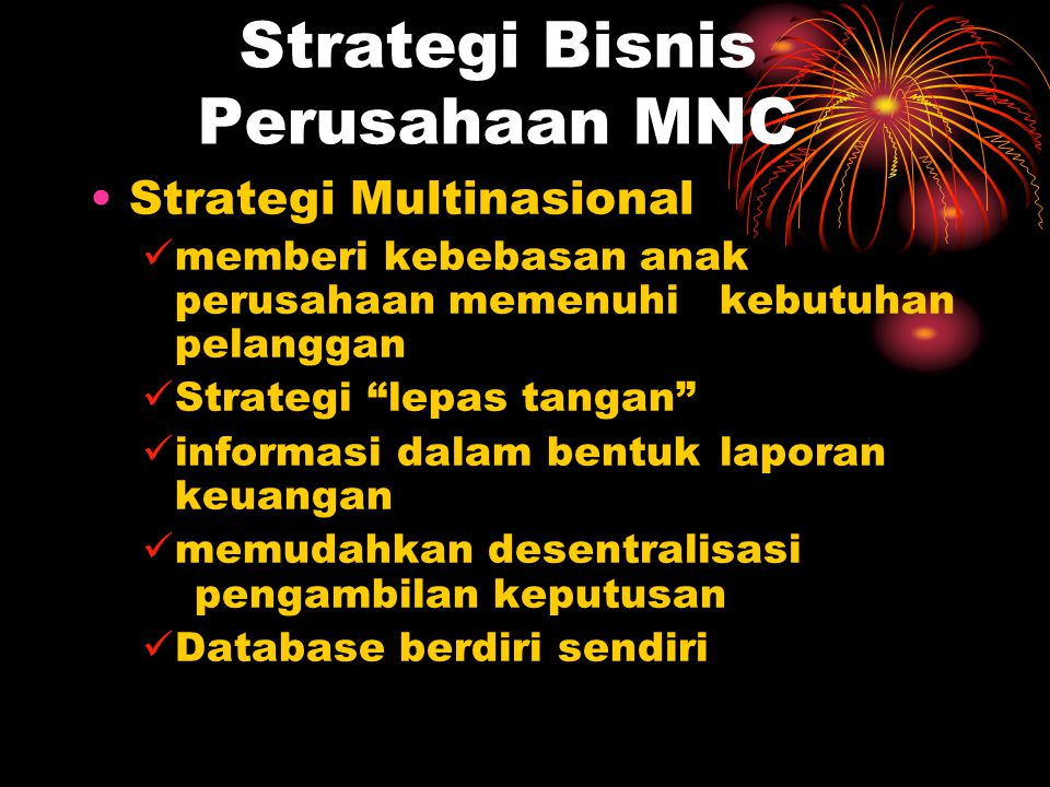 Strategi Bisnis Perusahaan MNC