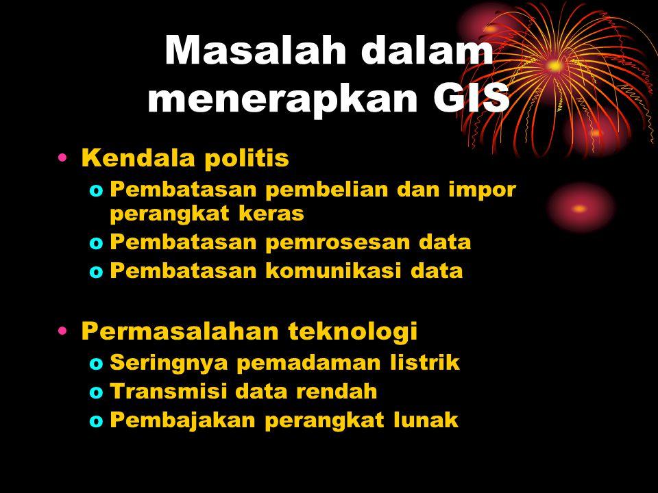 Masalah dalam menerapkan GIS