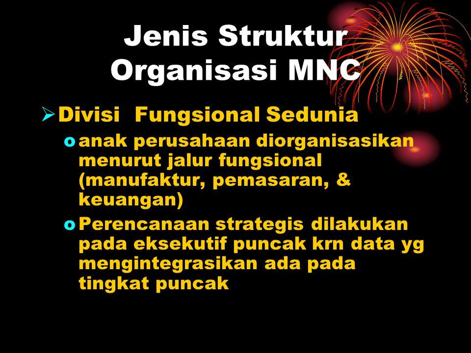 Jenis Struktur Organisasi MNC