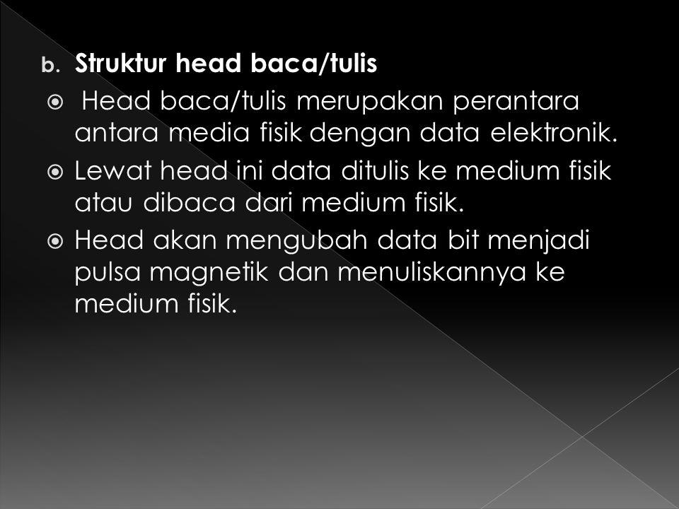 Struktur head baca/tulis