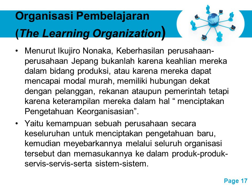 Organisasi Pembelajaran (The Learning Organization)