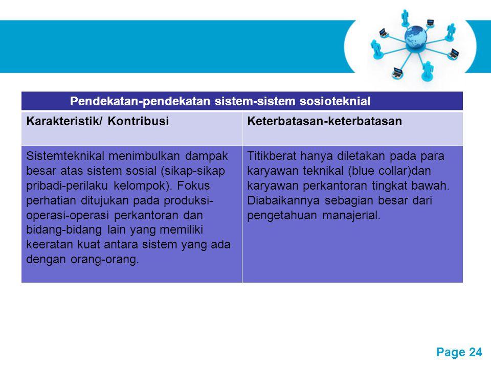 Pendekatan-pendekatan sistem-sistem sosioteknial
