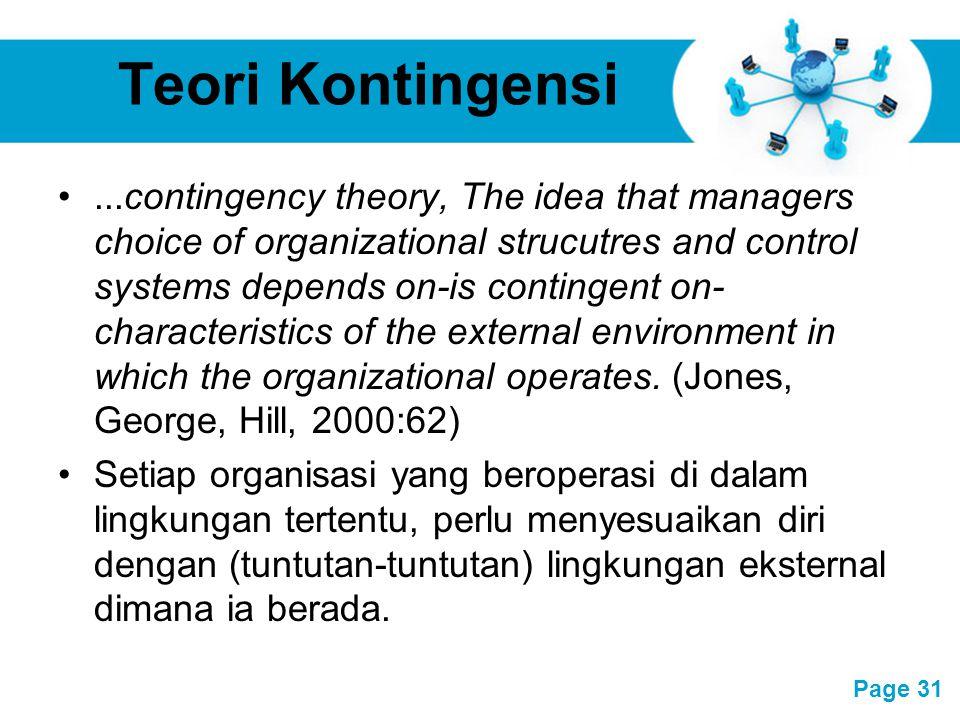 Teori Kontingensi