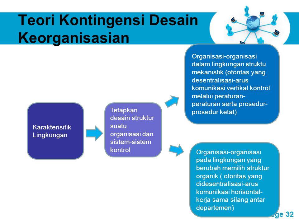 Teori Kontingensi Desain Keorganisasian