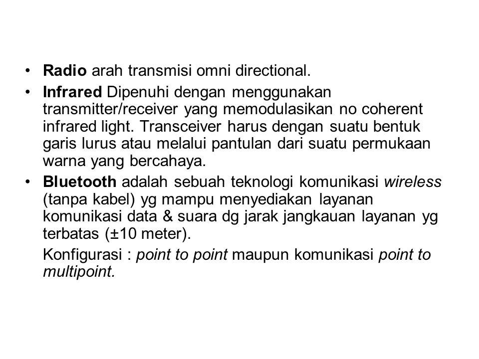 Radio arah transmisi omni directional.