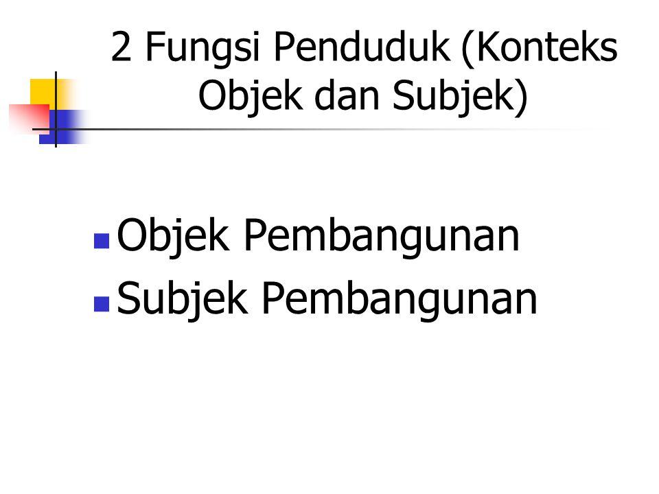2 Fungsi Penduduk (Konteks Objek dan Subjek)