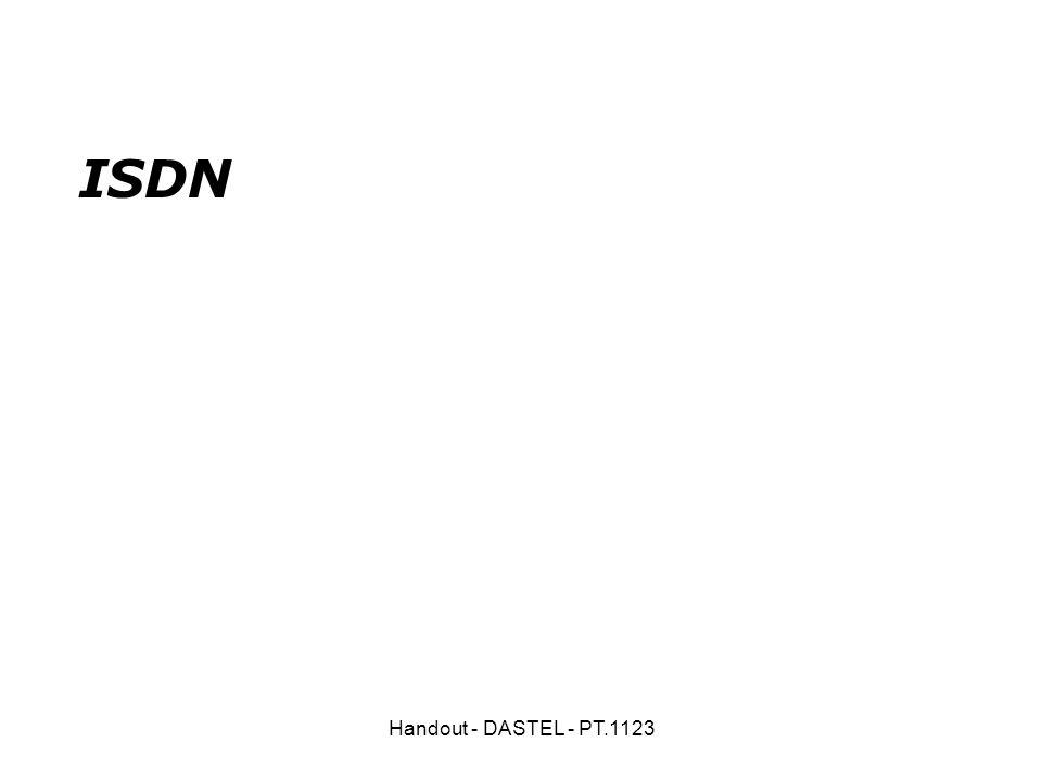 ISDN Handout - DASTEL - PT.1123