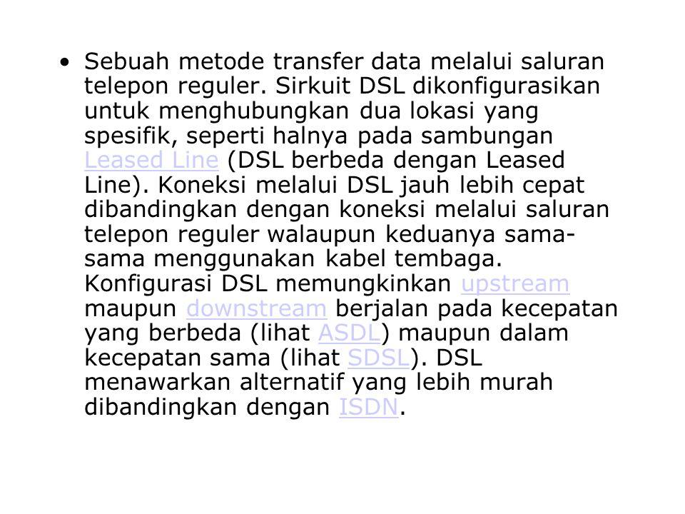 Sebuah metode transfer data melalui saluran telepon reguler