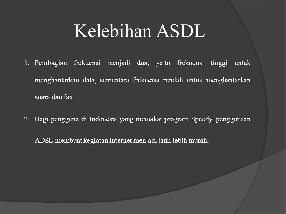 Kelebihan ASDL