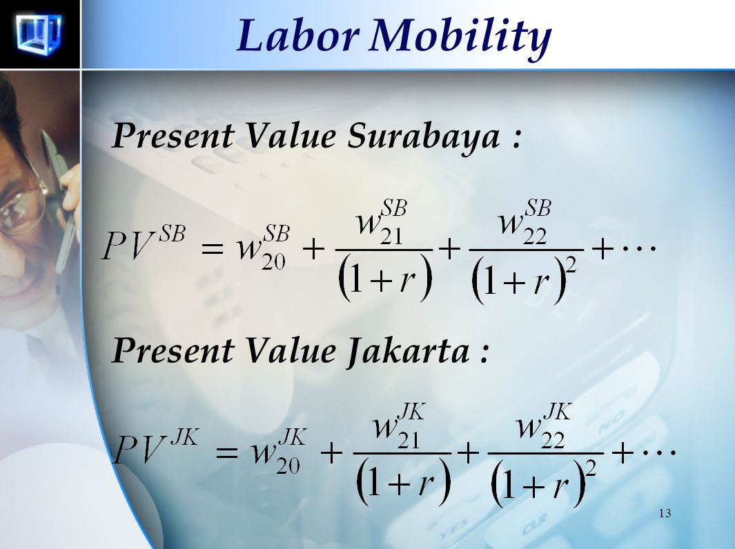 Labor Mobility Present Value Surabaya : Present Value Jakarta :