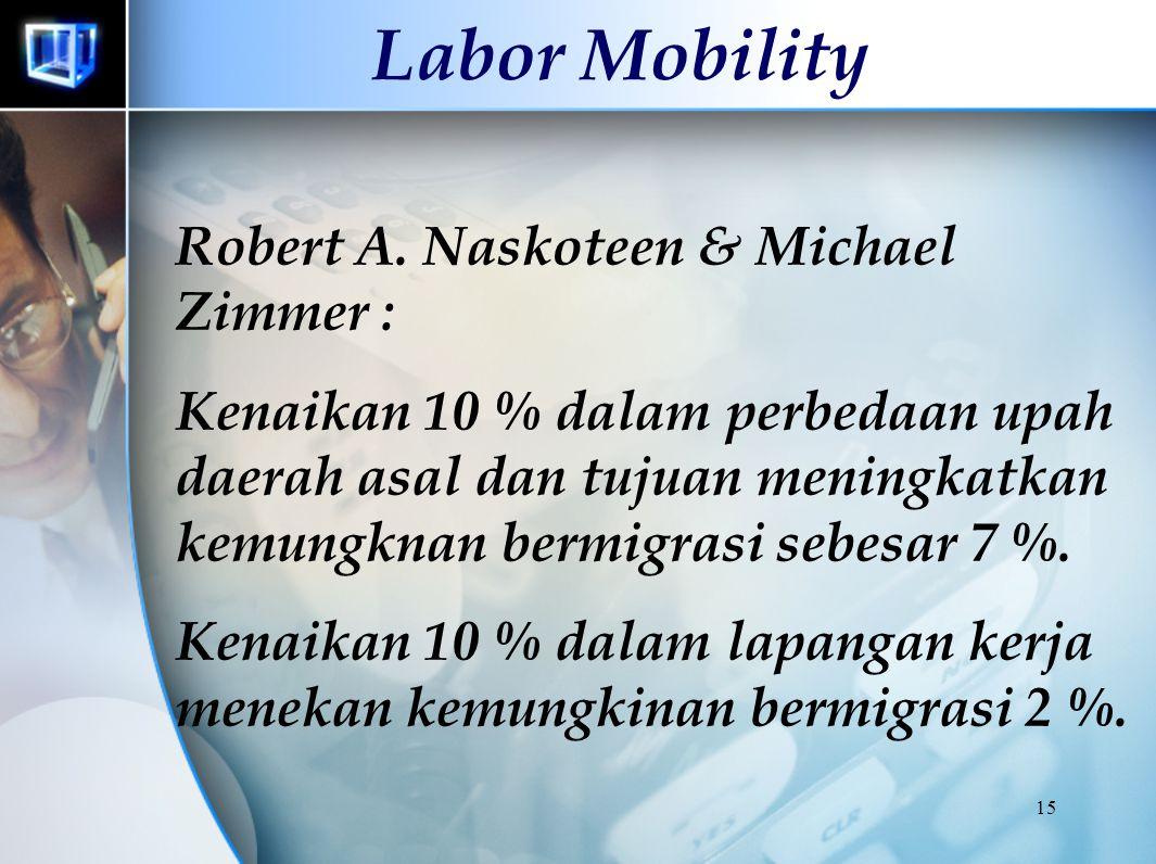 Labor Mobility Robert A. Naskoteen & Michael Zimmer :