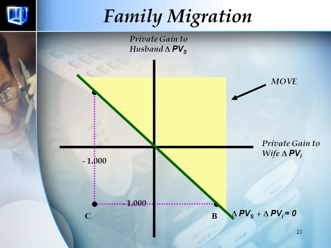 Family Migration Private Gain to Husband D PVS A MOVE D 1.000 1.000