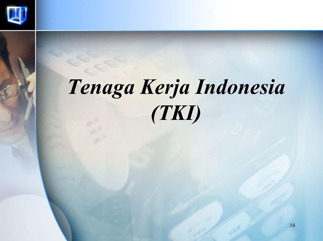 Tenaga Kerja Indonesia (TKI)