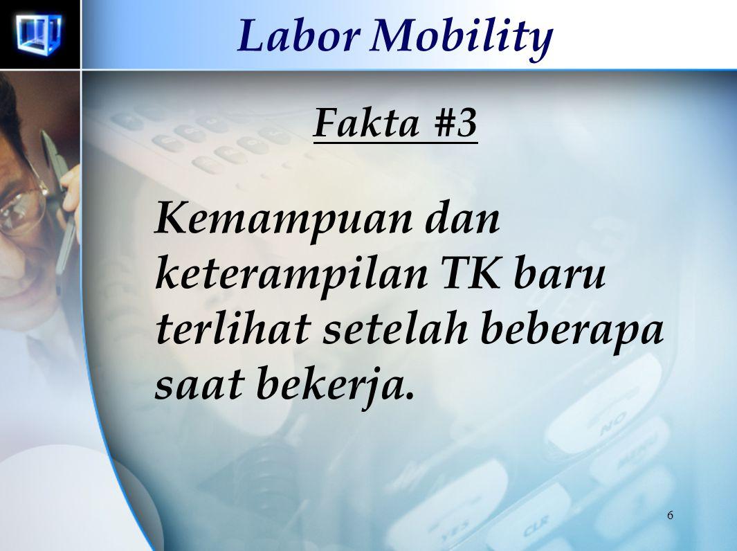 Labor Mobility Fakta #3 Kemampuan dan keterampilan TK baru terlihat setelah beberapa saat bekerja.