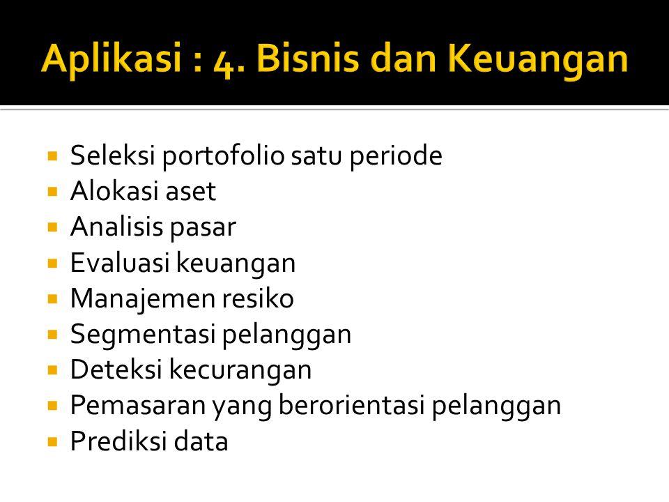 Aplikasi : 4. Bisnis dan Keuangan