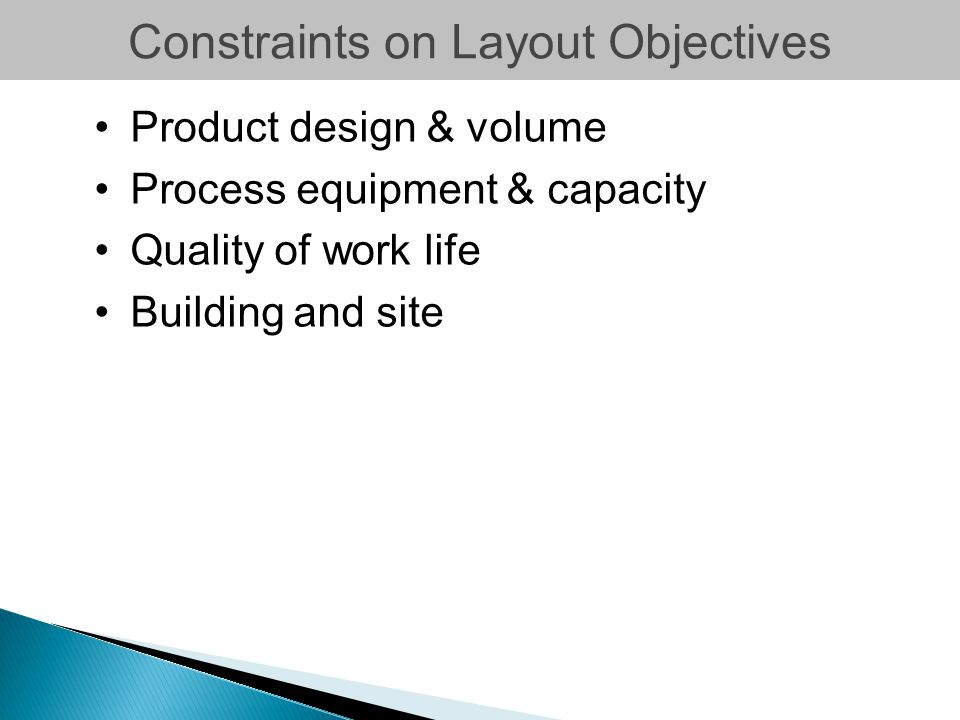 Constraints on Layout Objectives