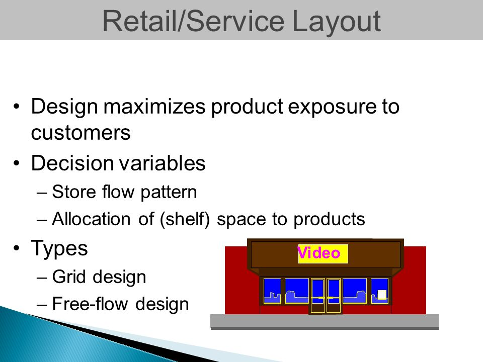 Retail/Service Layout