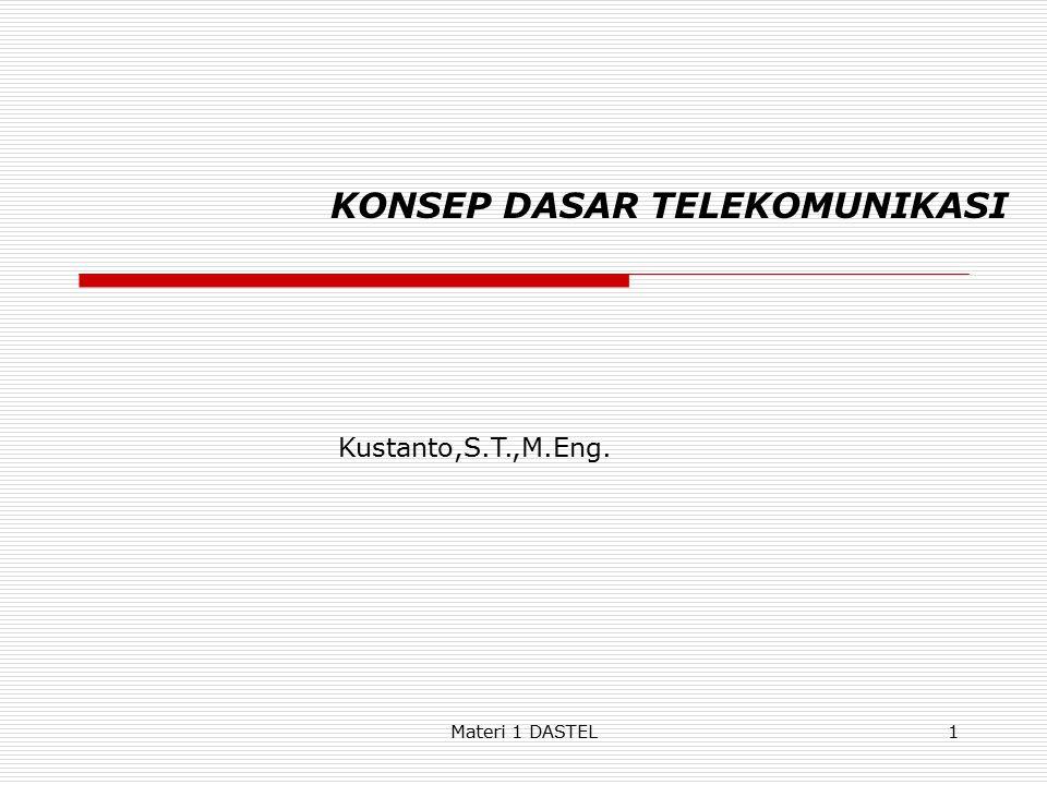 KONSEP DASAR TELEKOMUNIKASI