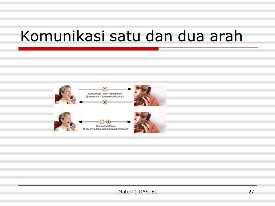 Komunikasi satu dan dua arah