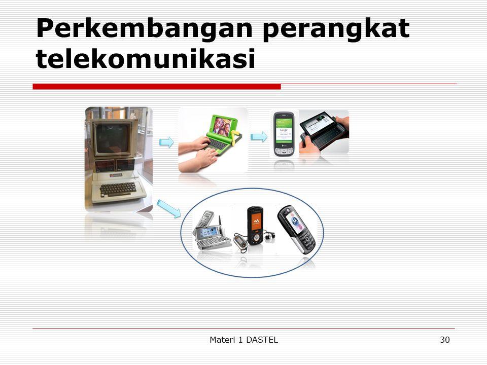 Perkembangan perangkat telekomunikasi