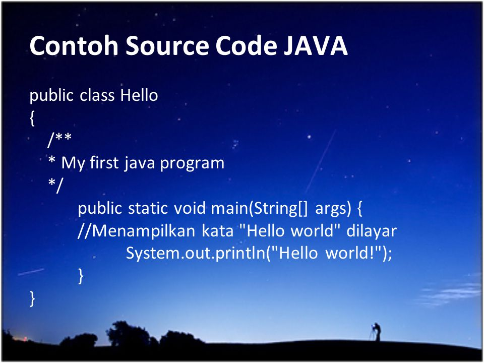 Contoh Source Code JAVA