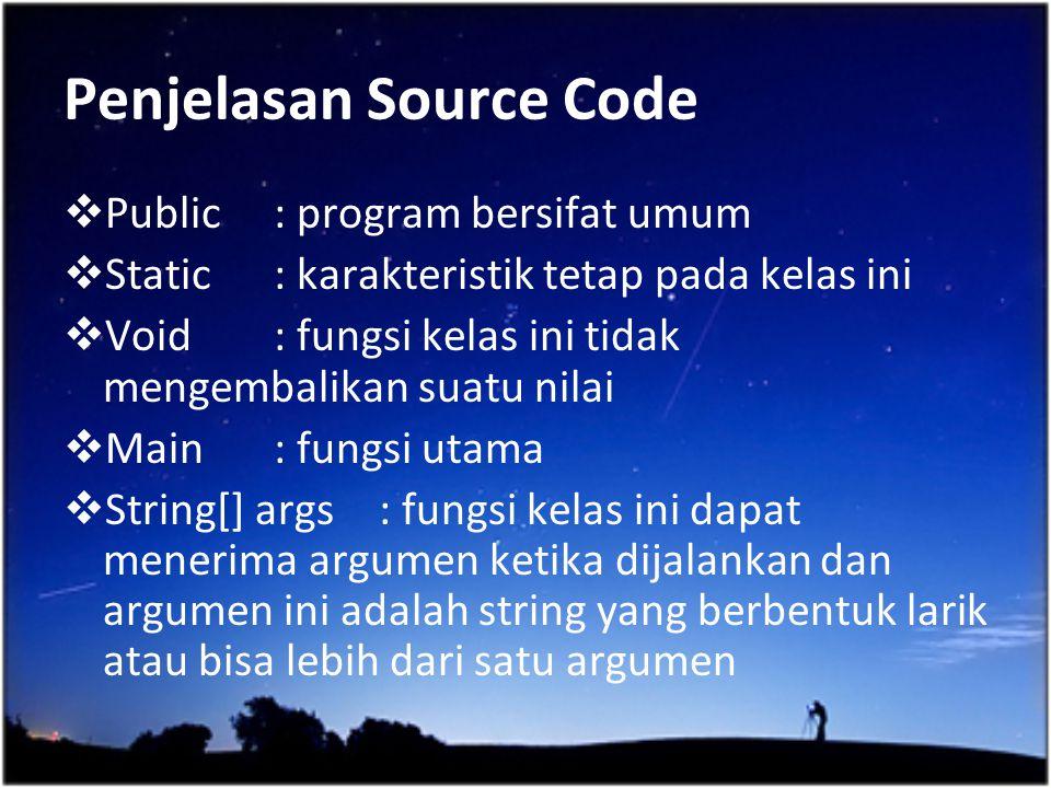 Penjelasan Source Code