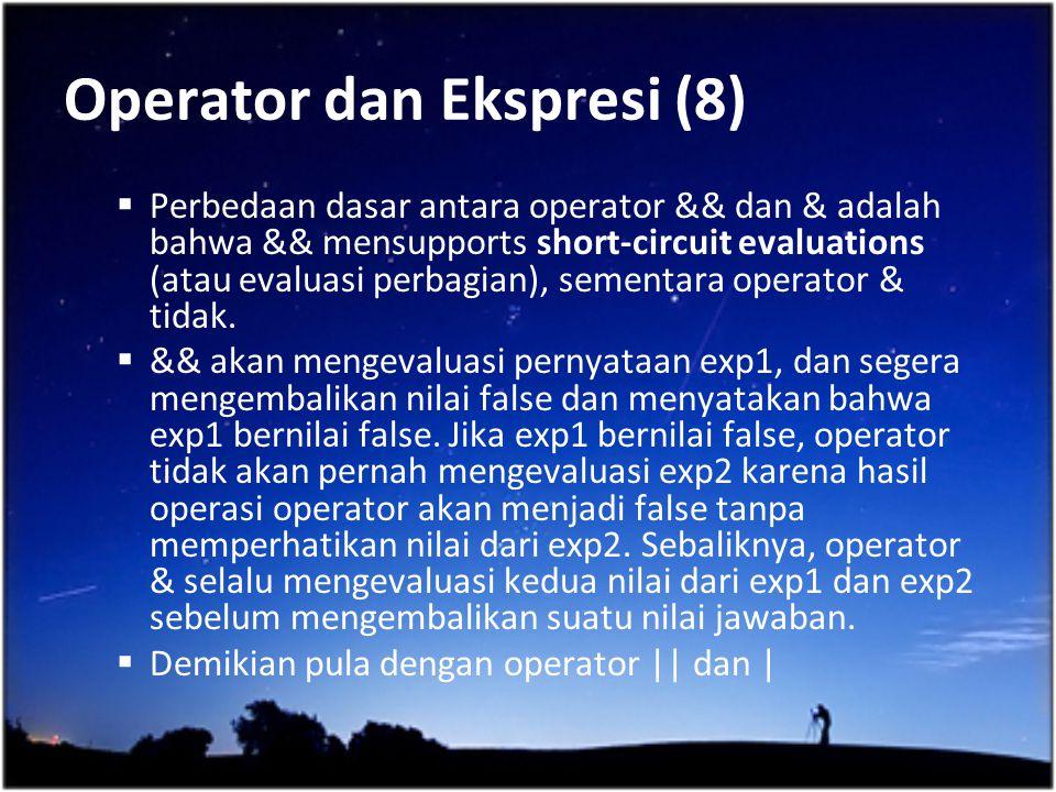 Operator dan Ekspresi (8)