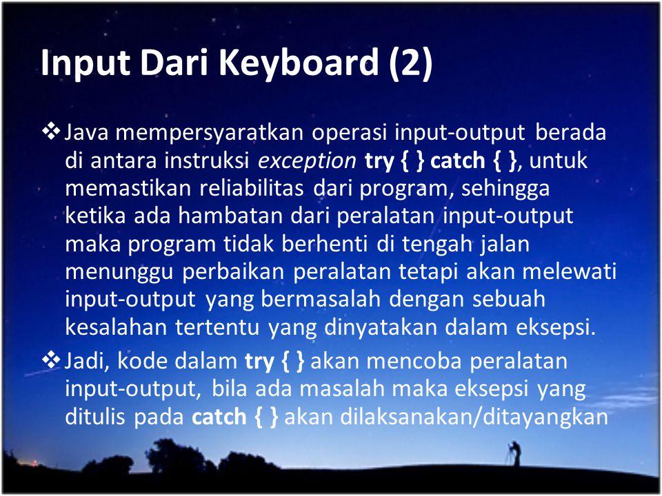 Input Dari Keyboard (2)
