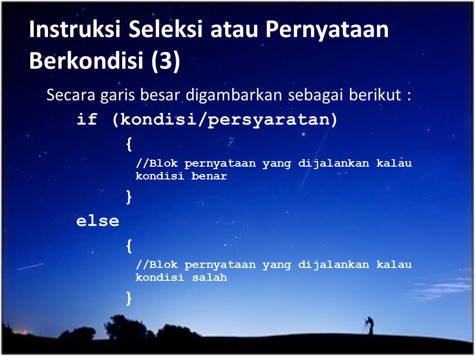 Instruksi Seleksi atau Pernyataan Berkondisi (3)