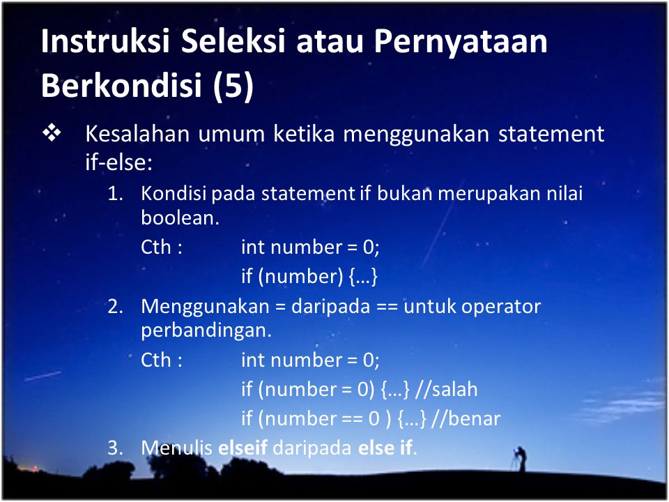 Instruksi Seleksi atau Pernyataan Berkondisi (5)