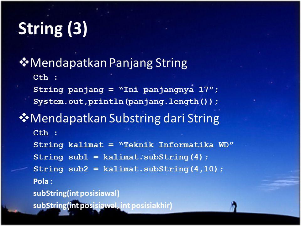 String (3) Mendapatkan Panjang String