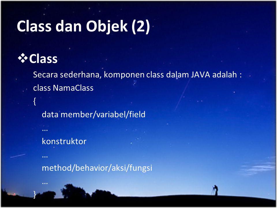 Class dan Objek (2) Class