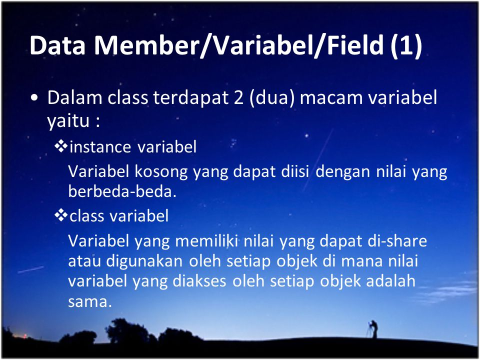 Data Member/Variabel/Field (1)