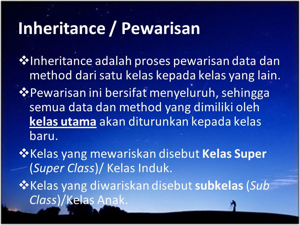 Inheritance / Pewarisan