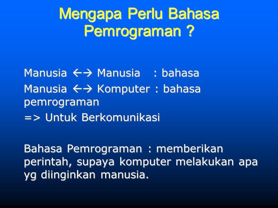 Mengapa Perlu Bahasa Pemrograman