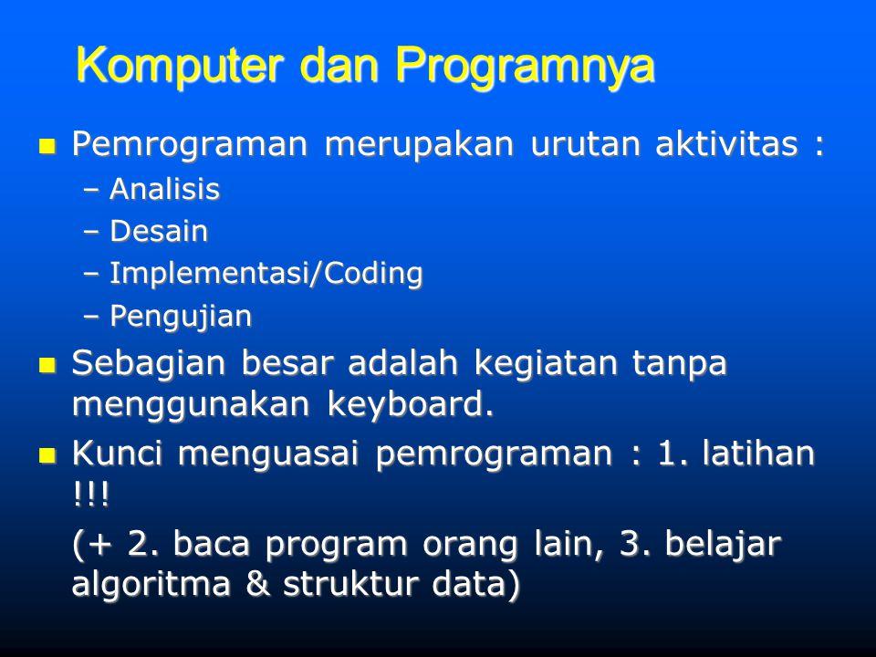Komputer dan Programnya