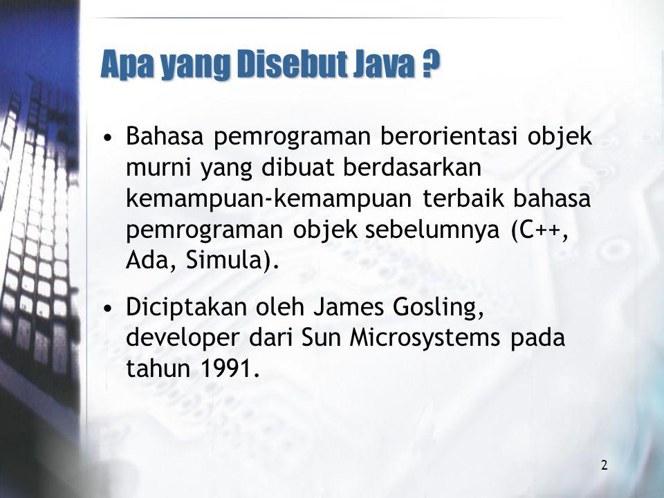 Apa yang Disebut Java