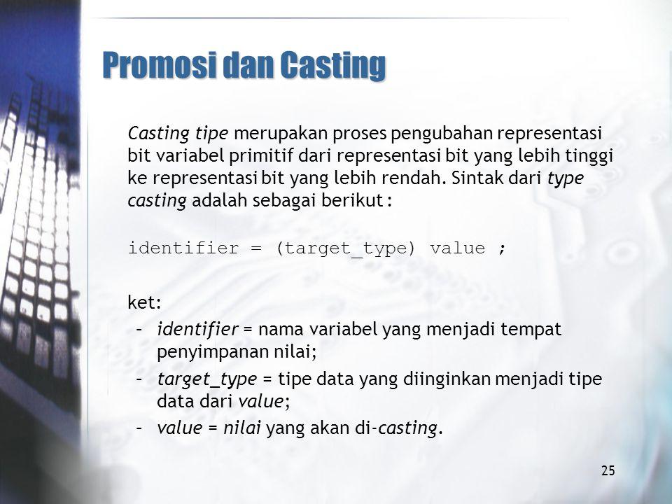 Promosi dan Casting