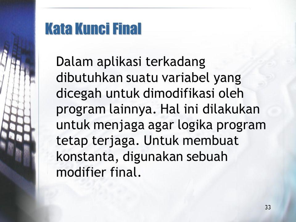 Kata Kunci Final