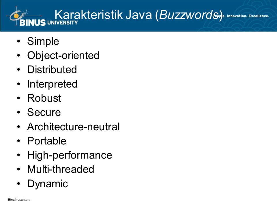 Karakteristik Java (Buzzwords)