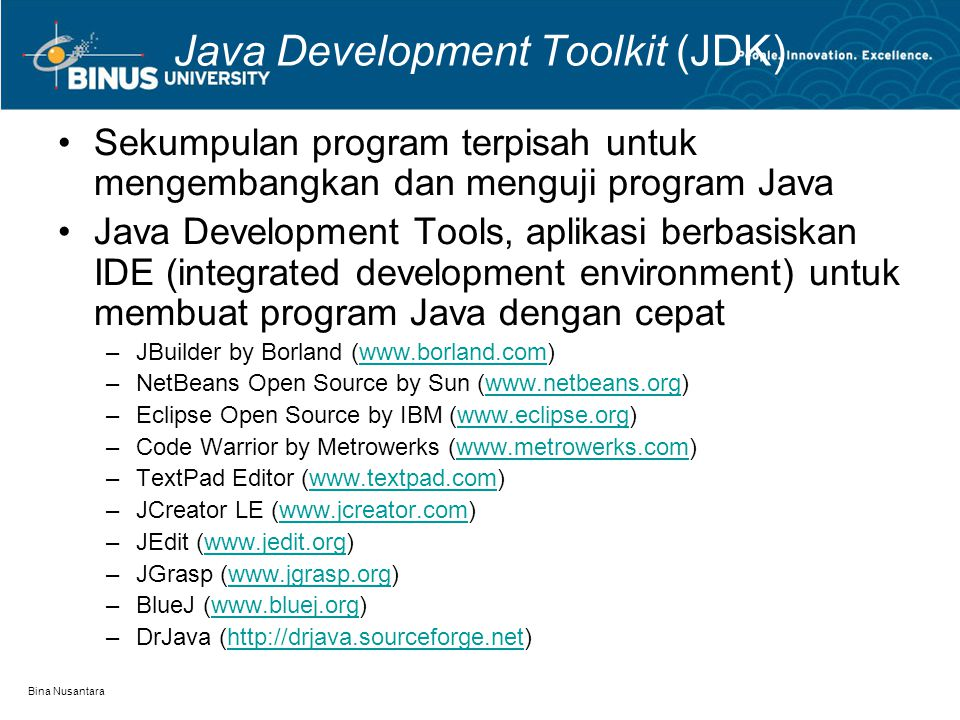 Java Development Toolkit (JDK)