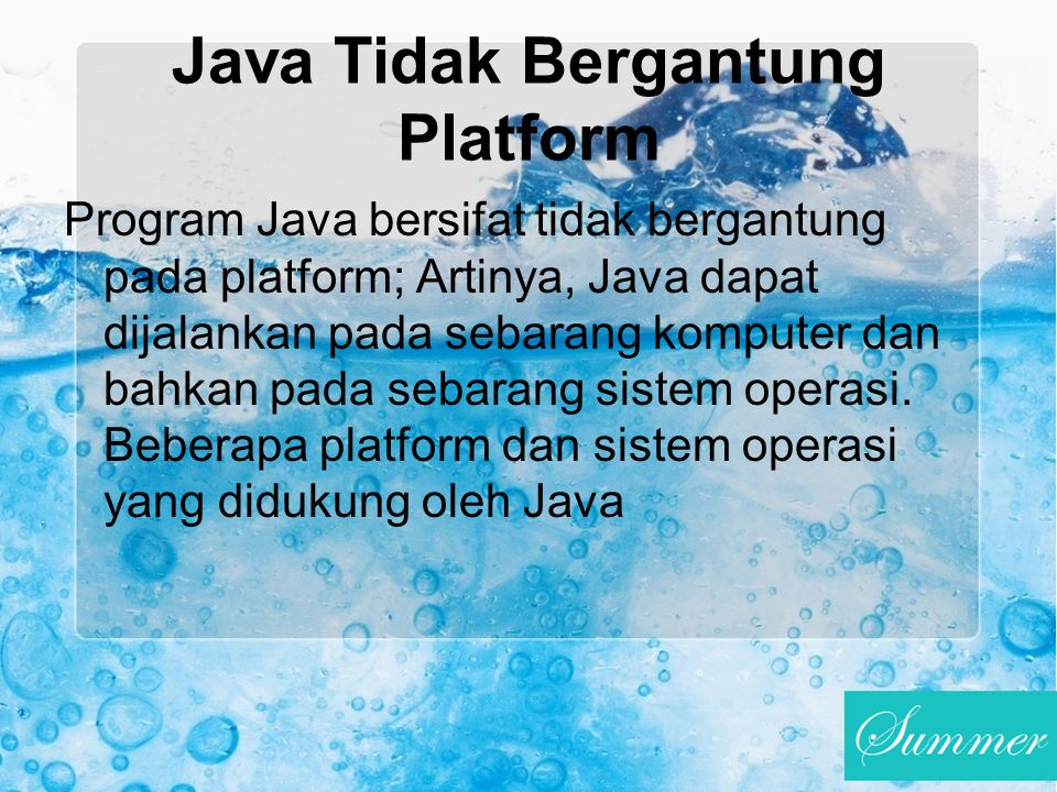 Java Tidak Bergantung Platform