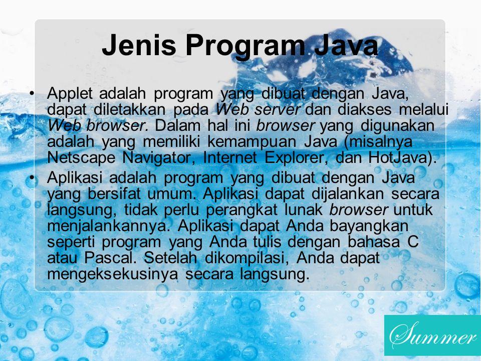 Jenis Program Java