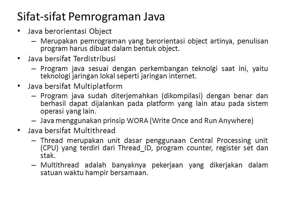 Sifat-sifat Pemrograman Java