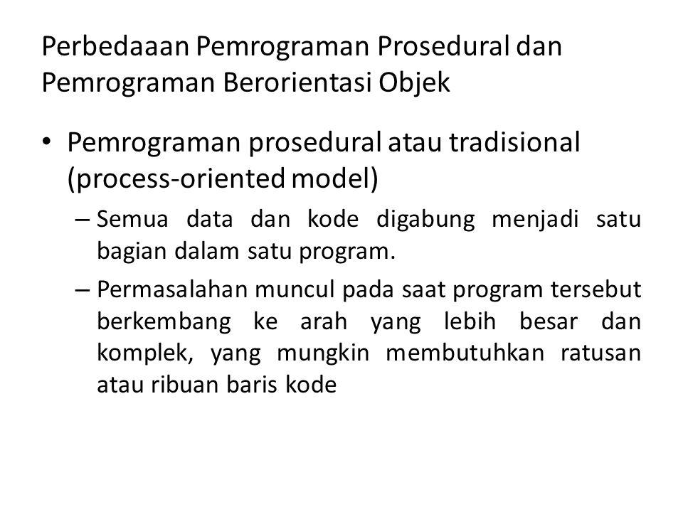 Perbedaaan Pemrograman Prosedural dan Pemrograman Berorientasi Objek