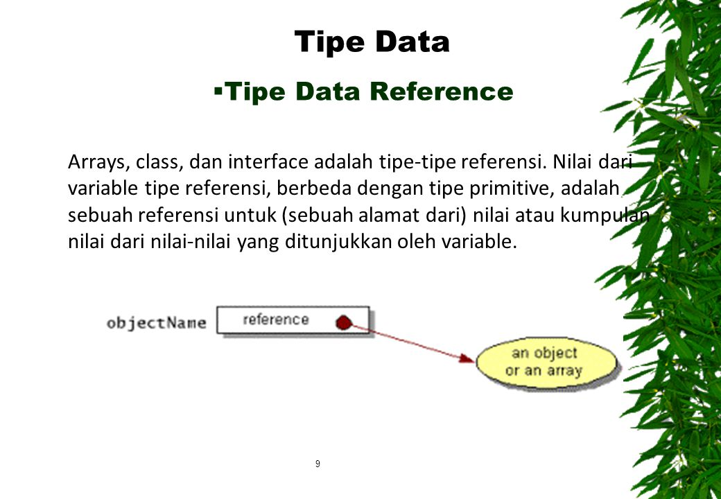 Tipe Data Tipe Data Reference
