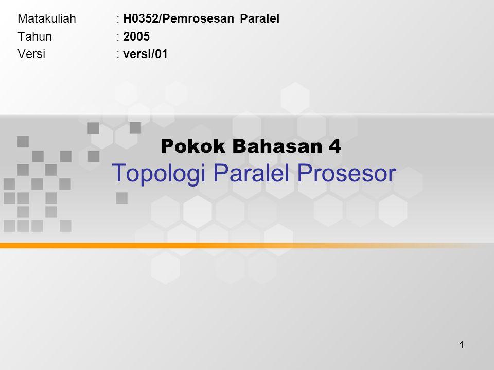 Pokok Bahasan 4 Topologi Paralel Prosesor