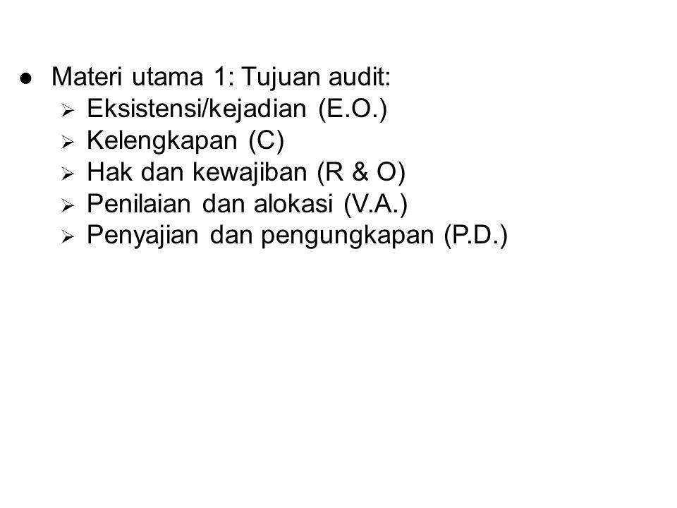 Materi utama 1: Tujuan audit: