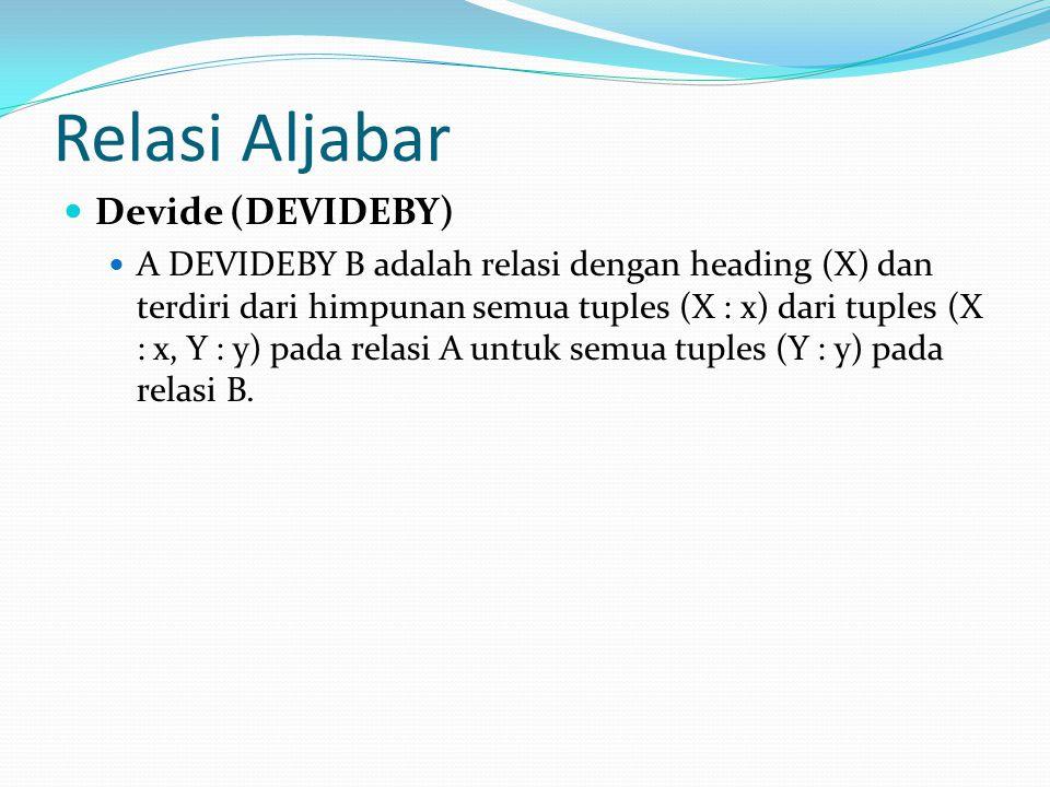 Relasi Aljabar Devide (DEVIDEBY)