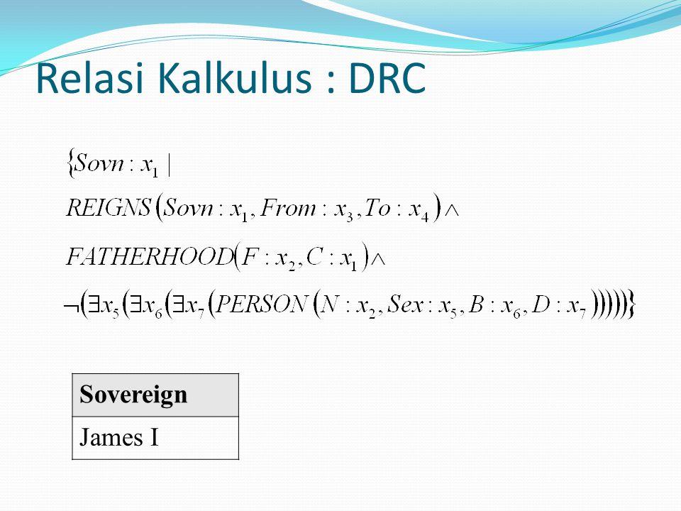 Relasi Kalkulus : DRC Sovereign James I